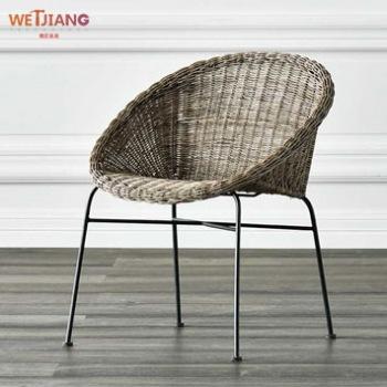 休闲藤编椅 WJ-168