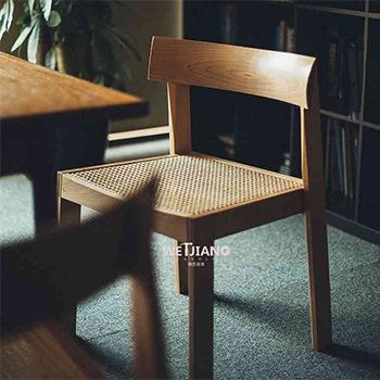 实木餐椅 WJ-152牛头椅