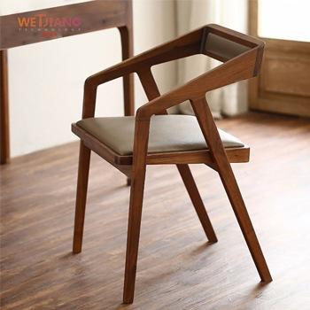 实木餐椅 WJ-832书椅