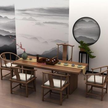 餐桌椅WJ-040A新中式茶桌椅