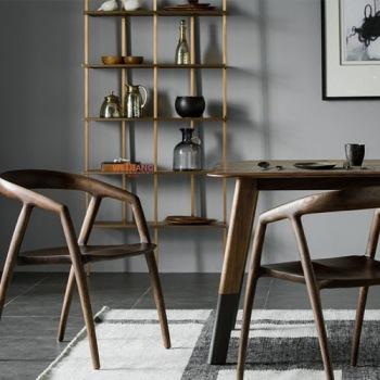实木餐椅 WJ-019白蜡木餐椅